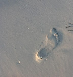footprint beach sand MGD©