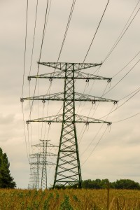 Row of electricity pylons (1)